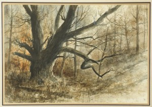Lot 341: Jim Gray Fall Landscape Watercolor