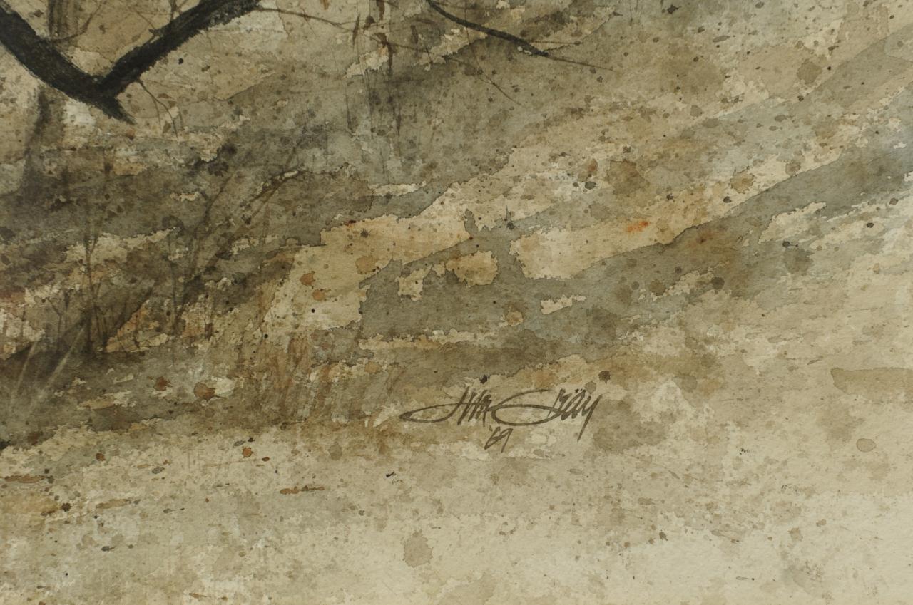 Lot 341: Jim Gray Fall Landscape Watercolor