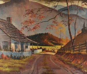 Lot 342: Ralph Bagley o/c Smoky Mountain landscape