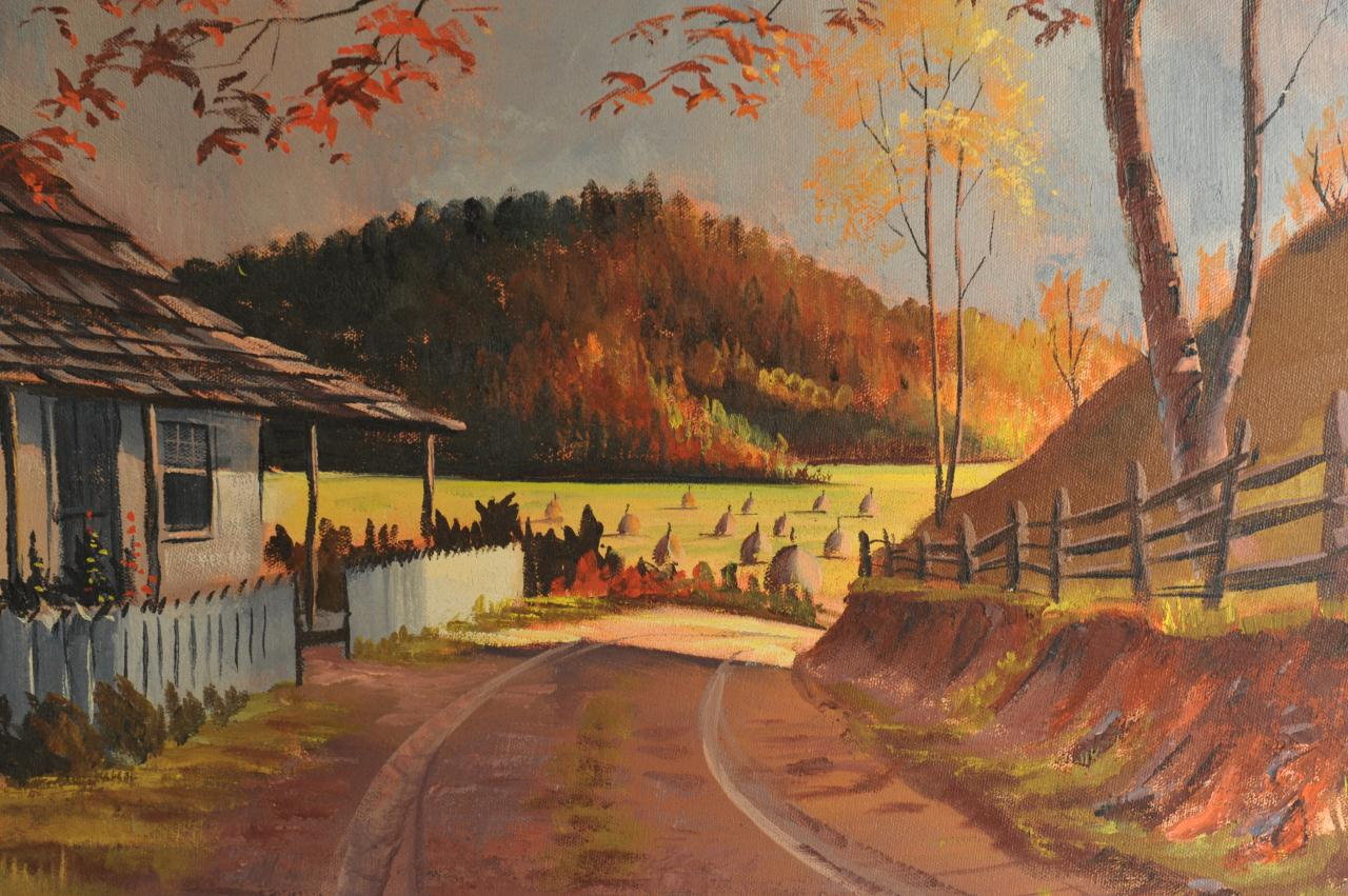 Lot 342: Ralph Bagley o/c Smoky Mountain landscape
