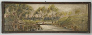 Lot 343: Blount County TN Landscape oil on board