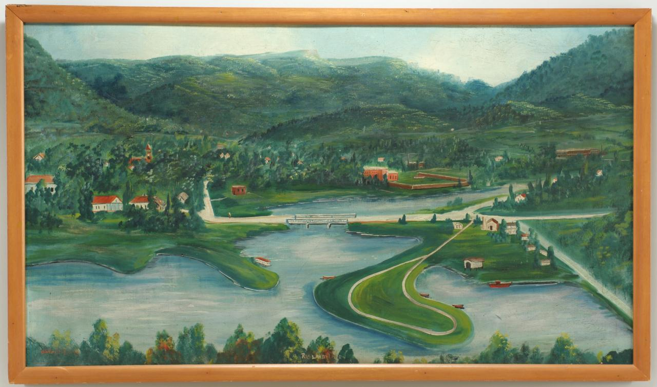 Lot 344: James Hughes Folk Art Painting