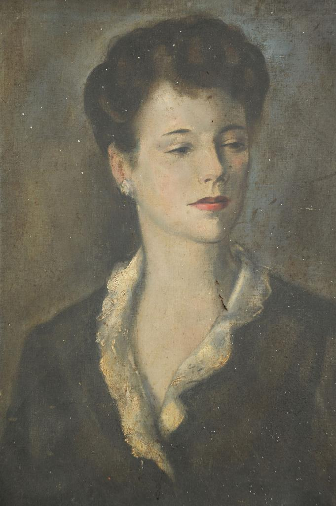 Lot 345: Charles Cagle oil on canvas, Portrait of a Lady