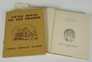 "Lot 347: 2 signed Laura Ingalls Wilder ""Little House"" books"