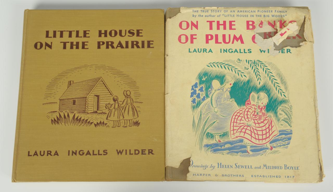 """Lot 347: 2 signed Laura Ingalls Wilder """"Little House"""" books"""