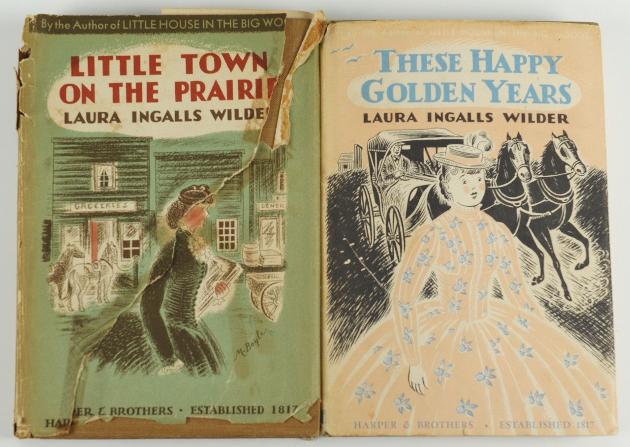 "Lot 350: 2 signed Laura Ingalls Wilder ""Little House"" books"