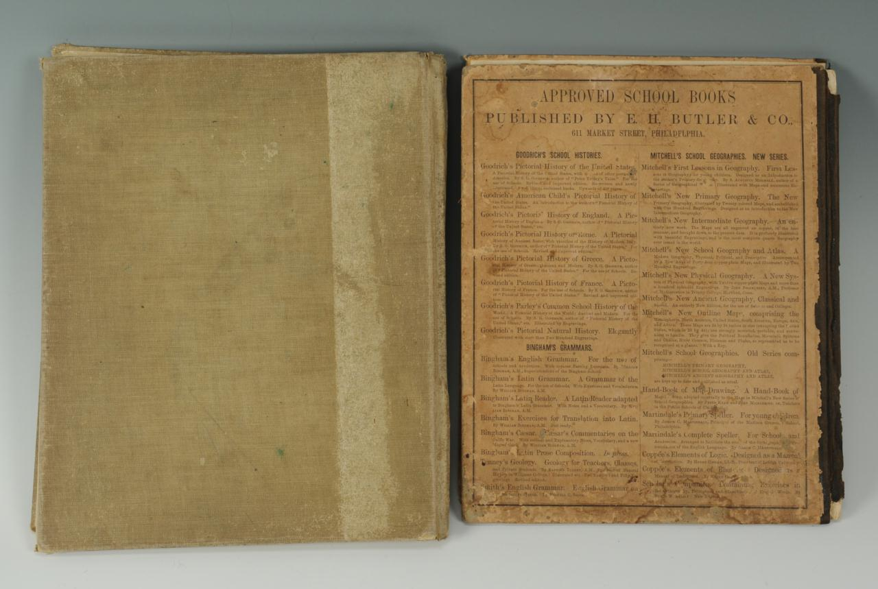 Lot 352: 2 books: Mitchell's Atlas and Maury's Geography