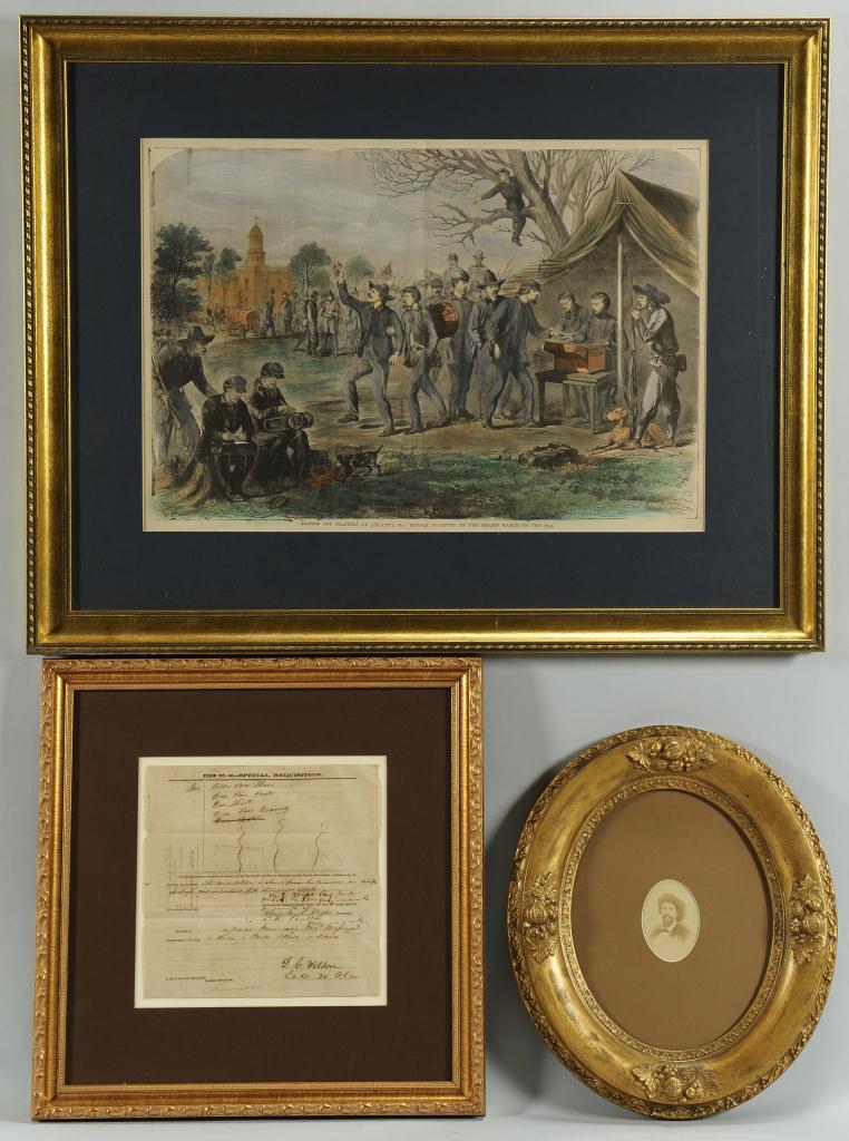 Lot 356: 3 Civil War Related Items inc. Morgan CDV