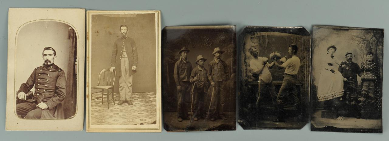 Lot 357: 5 19th c photos including Civil War and Boxers