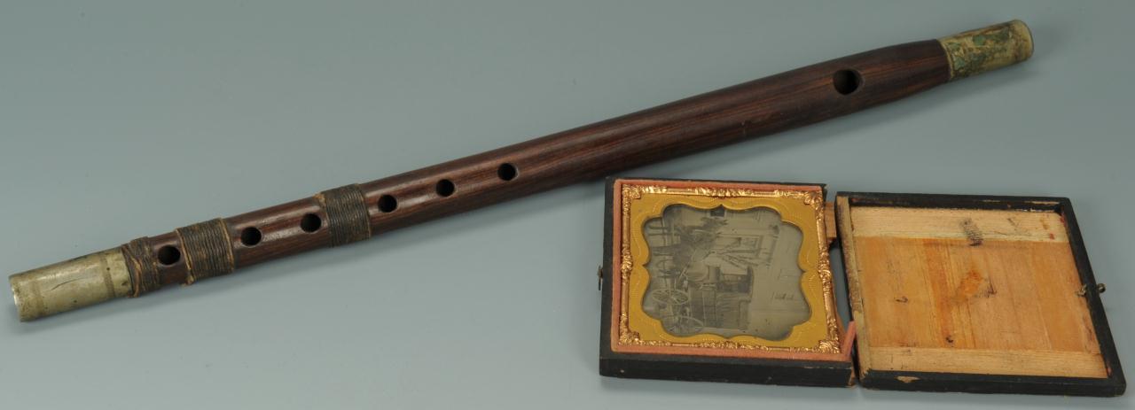 Lot 358: Civil War Era Fife & Wagon Tin Type