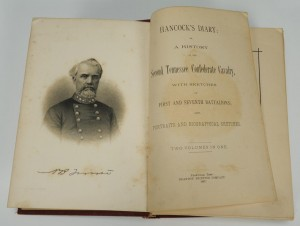 Lot 360: Hancock's Diary: Second TN Confederate Calvary