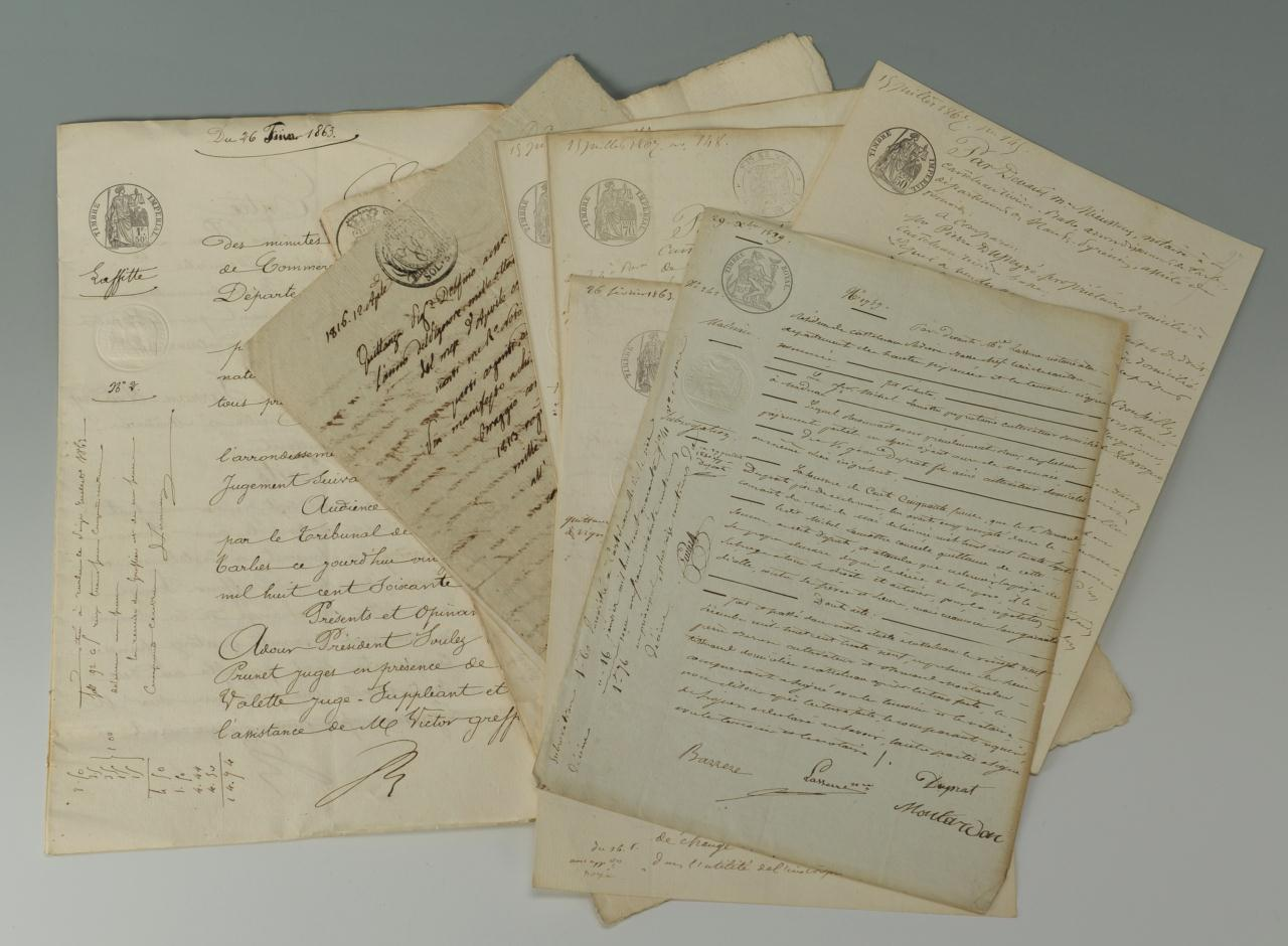 Lot 368: French books, documents, and Royal Document
