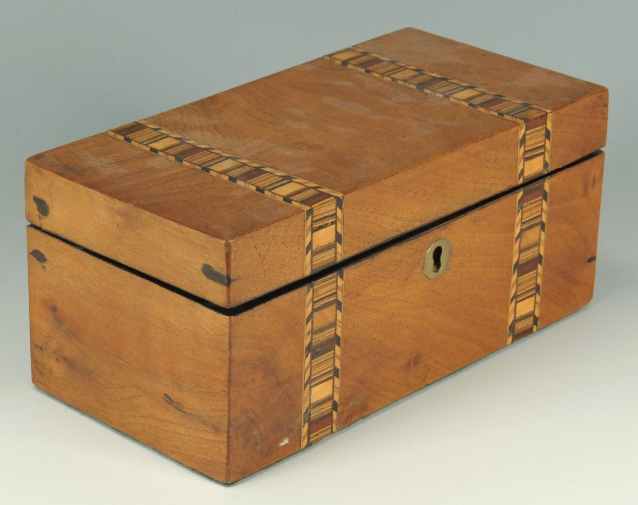 Lot 374: Two English tea caddies