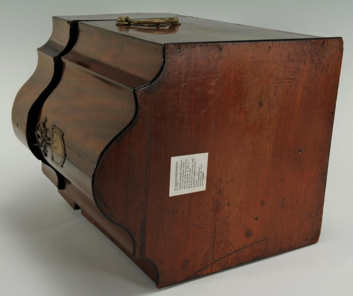 Lot 375: English Mahogany Cutlery Box