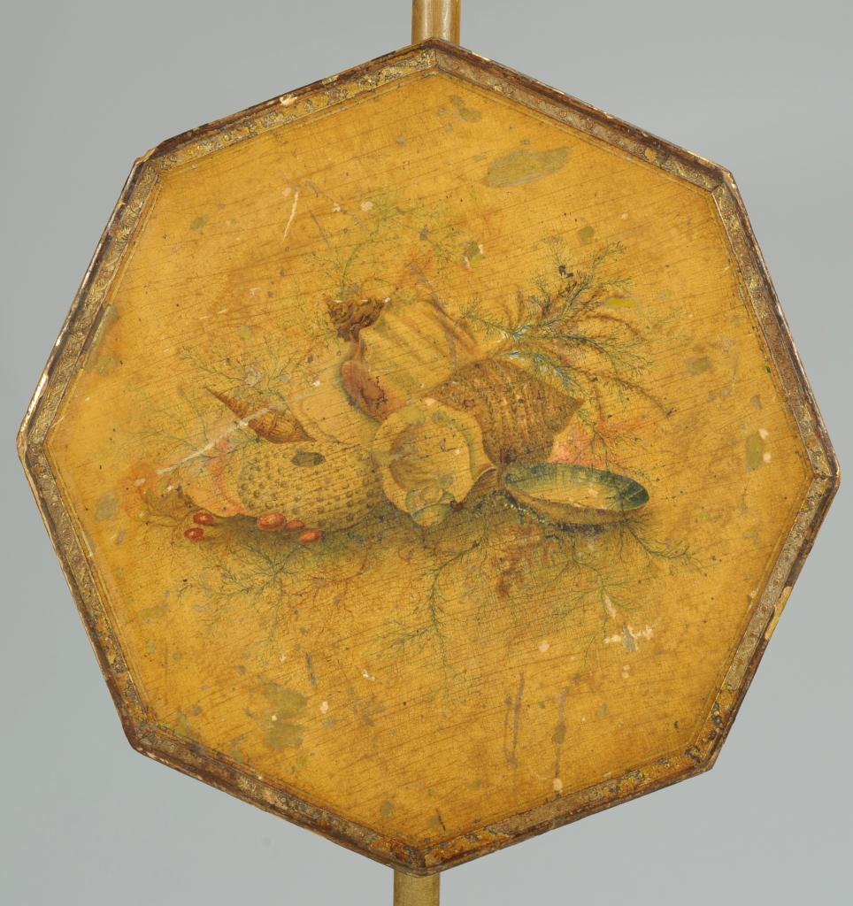 Lot 376: Regency / Empire Painted Yellow Firescreen