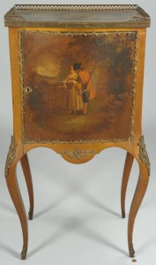 Lot 379: R J Horner signed Painted Commode, V. Martin