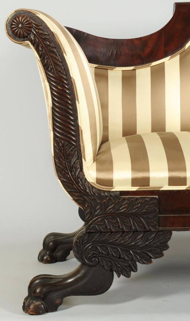 Lot 382: American Classical Style Settee or Sofa