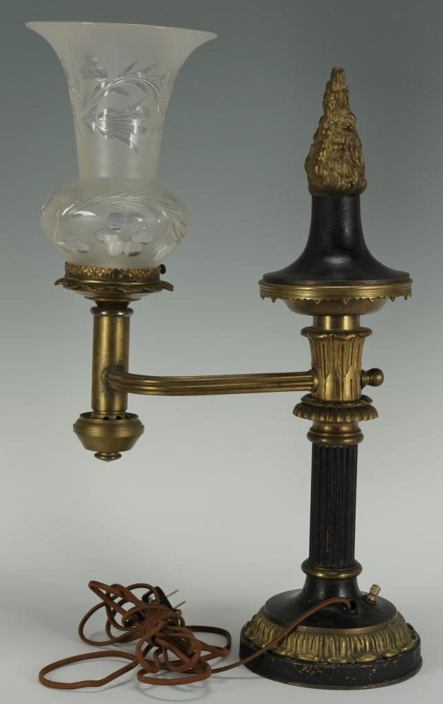 Lot 384: Baldwin Gardiner Single Argand Lamp