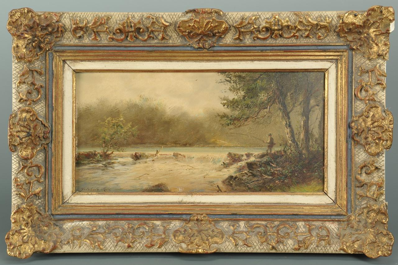 Lot 38: European School Oil on Board Riverscape