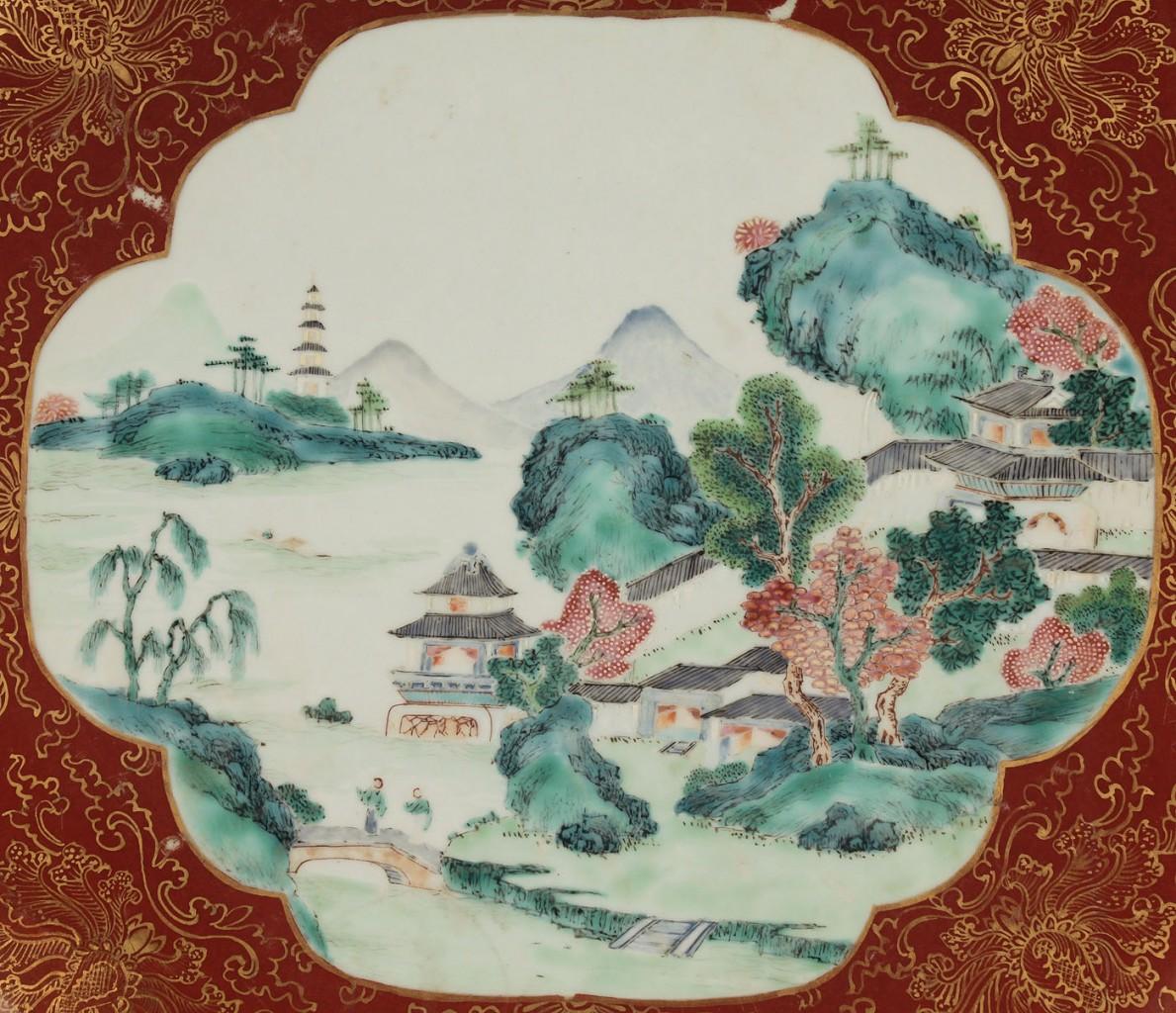 Lot 399: Chinese Imari Porcelain Charger
