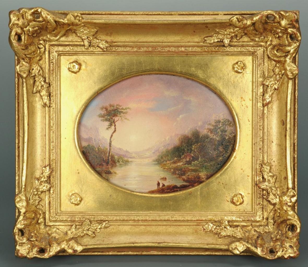 Lot 39: Sunset landscape, manner of James Baker Pyne