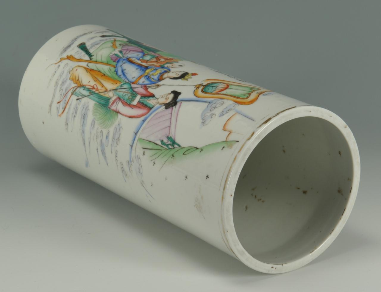 Lot 400: Chinese Republic Period Porcelain Cylinder vase