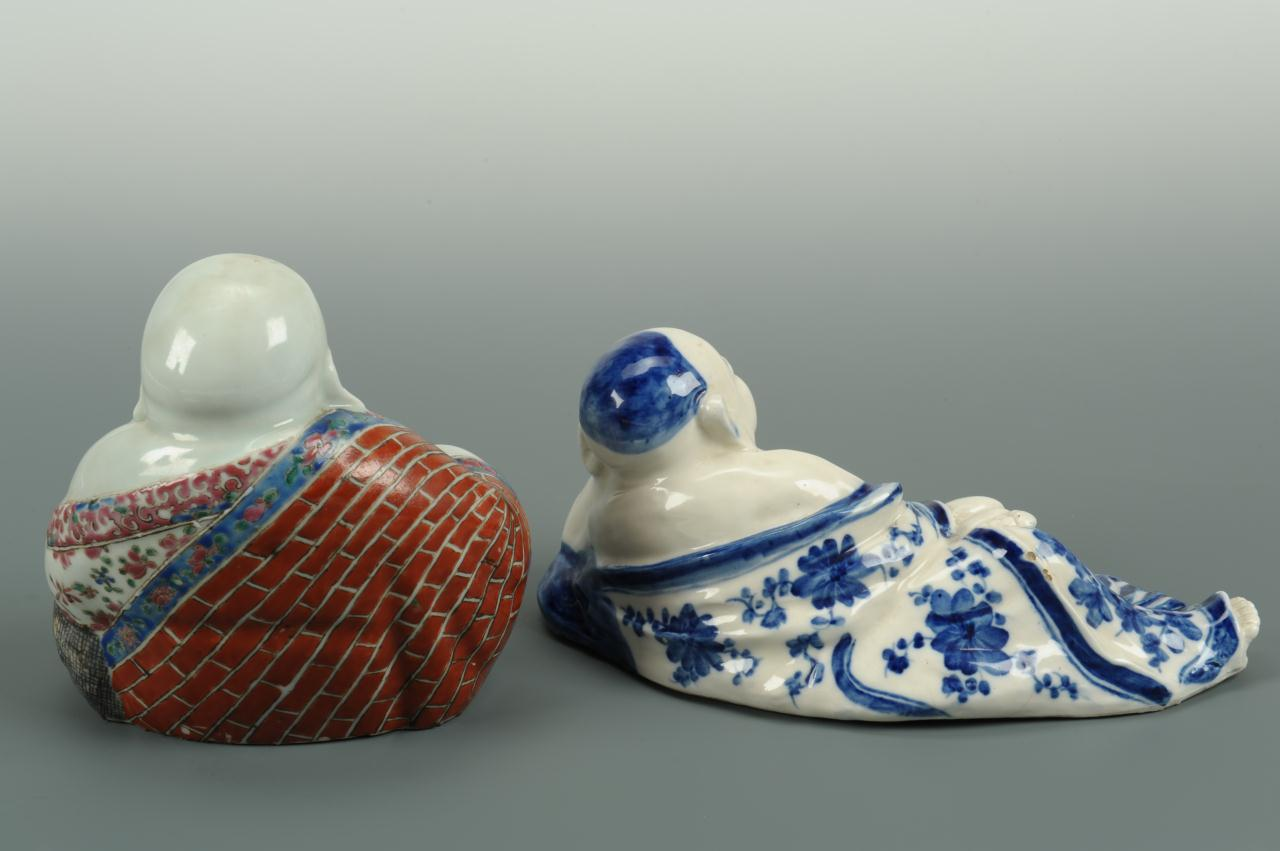 Lot 401: Two Chinese Porcelain Buddha Figures