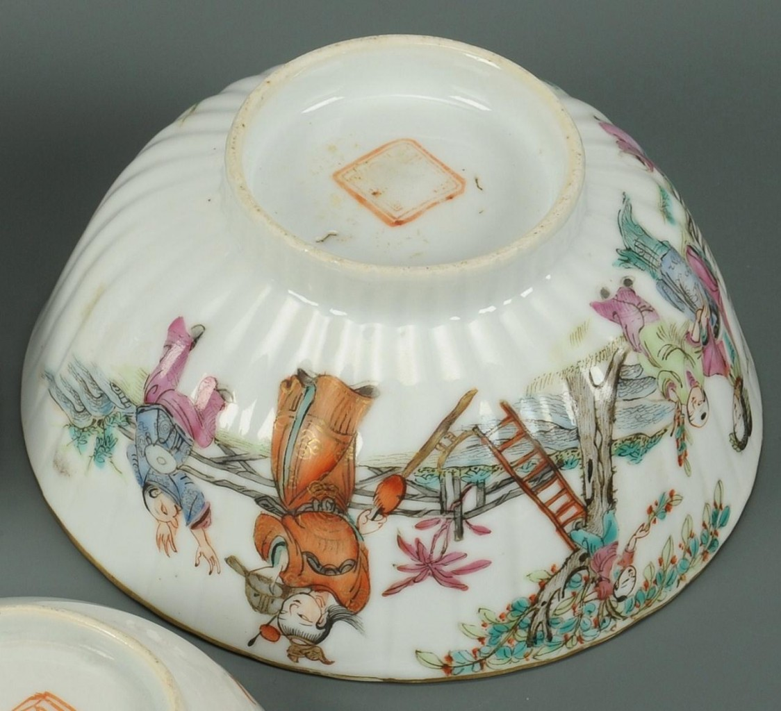 Lot 402: 3 Chinese Famille Rose Porcelain Items