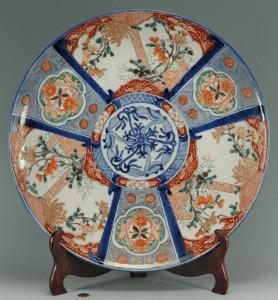 """Lot 407: Monumental Japanese Imari Platter, 17-3/4"""""""