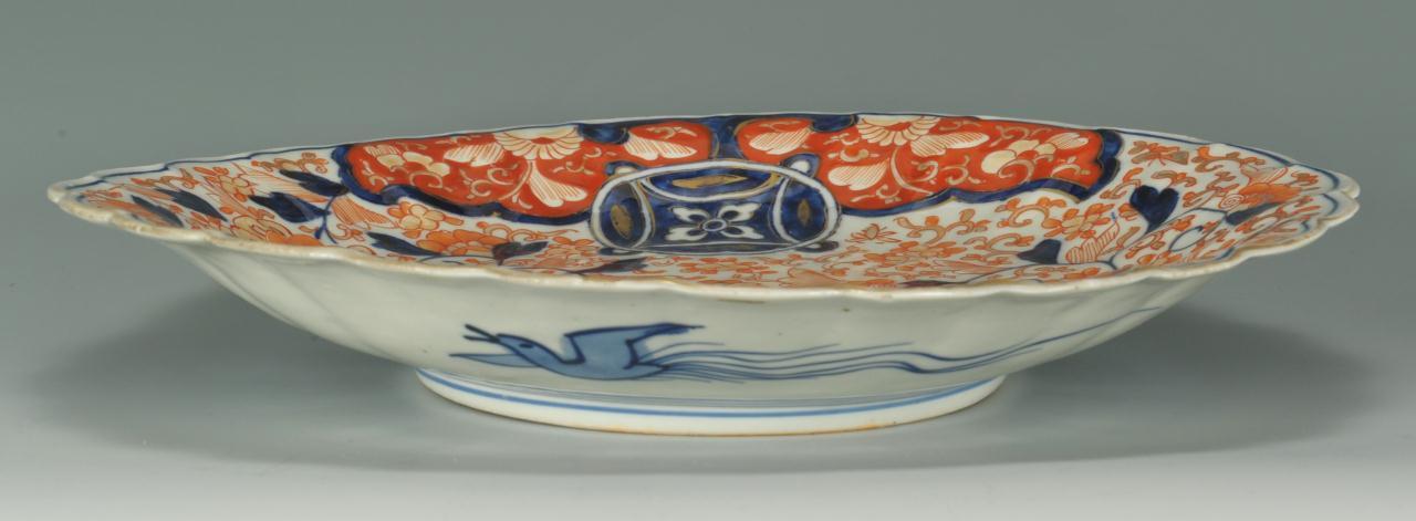 Lot 408: Japanese Imari Porcelain Platter