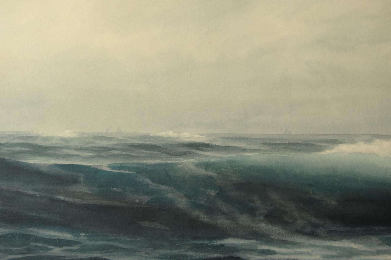 Lot 40: Henry N. Cady Watercolor Seascape