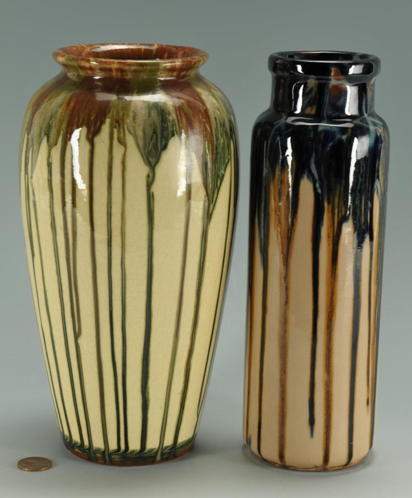Lot 413: 2 Peters & Reed Shadow Ware Vases