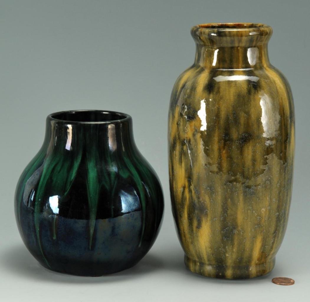 Lot 414: 2 Ohio Art Pottery Vases