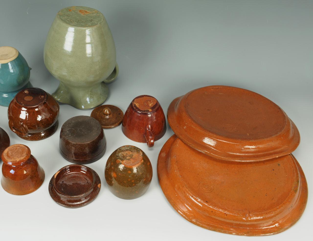 Lot 419: Grouping of NC Art Pottery, 13 pcs.