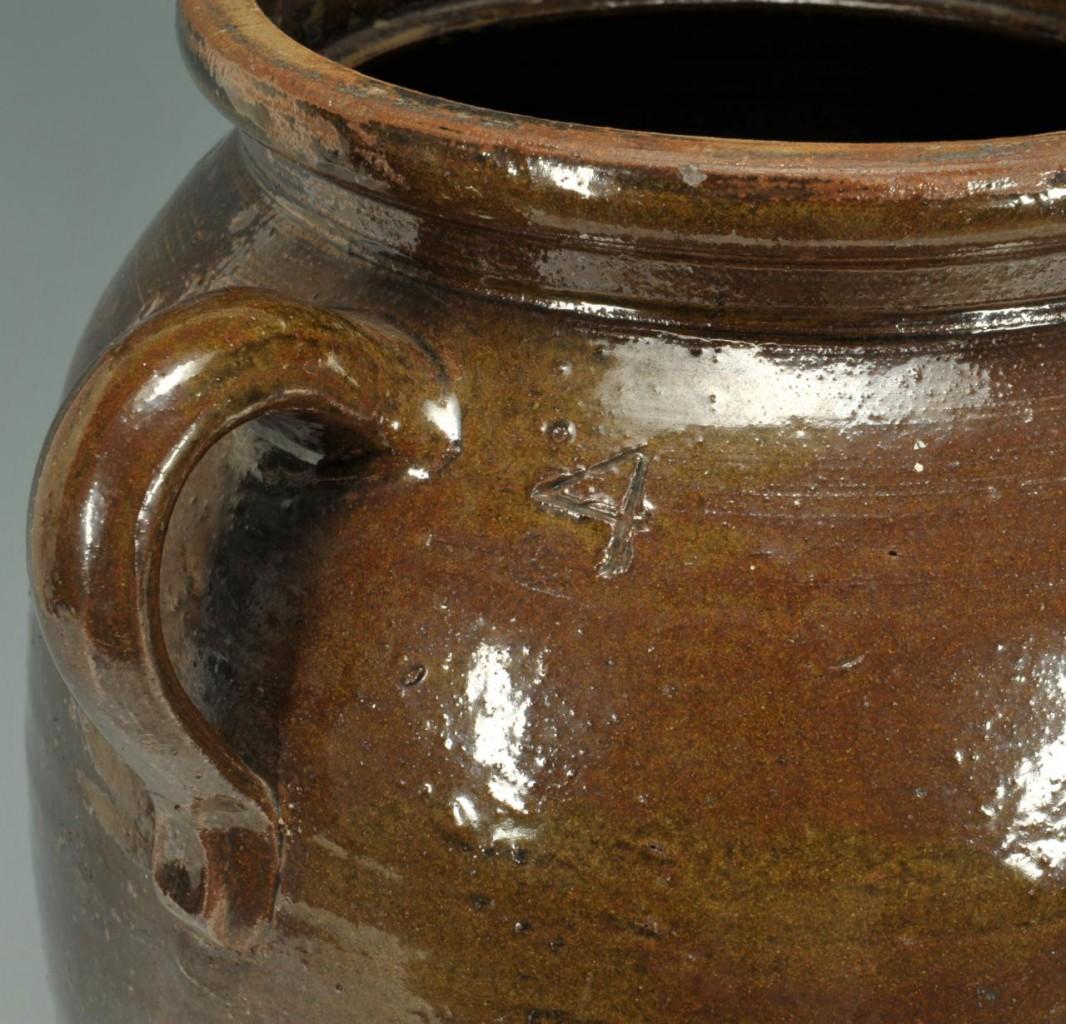Lot 421: Small Alabama alkaline glazed pottery Churn