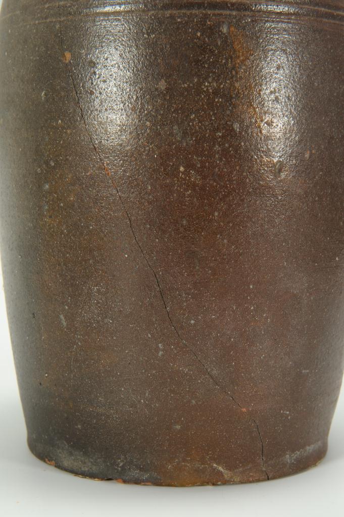 Lot 426: Pair of Large East TN Preserving Jars, attrib. Mor