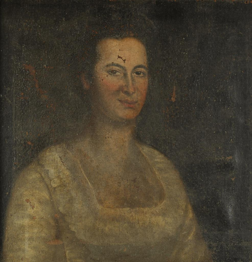 Lot 42: Portrait of a lady, manner of Henry Benbridge
