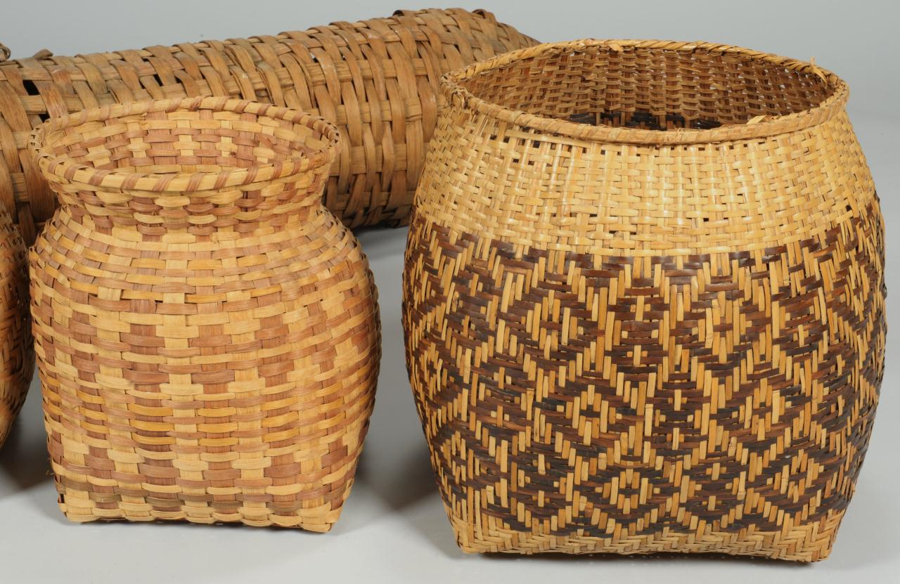 Lot 430: Group of 4 Cherokee Baskets