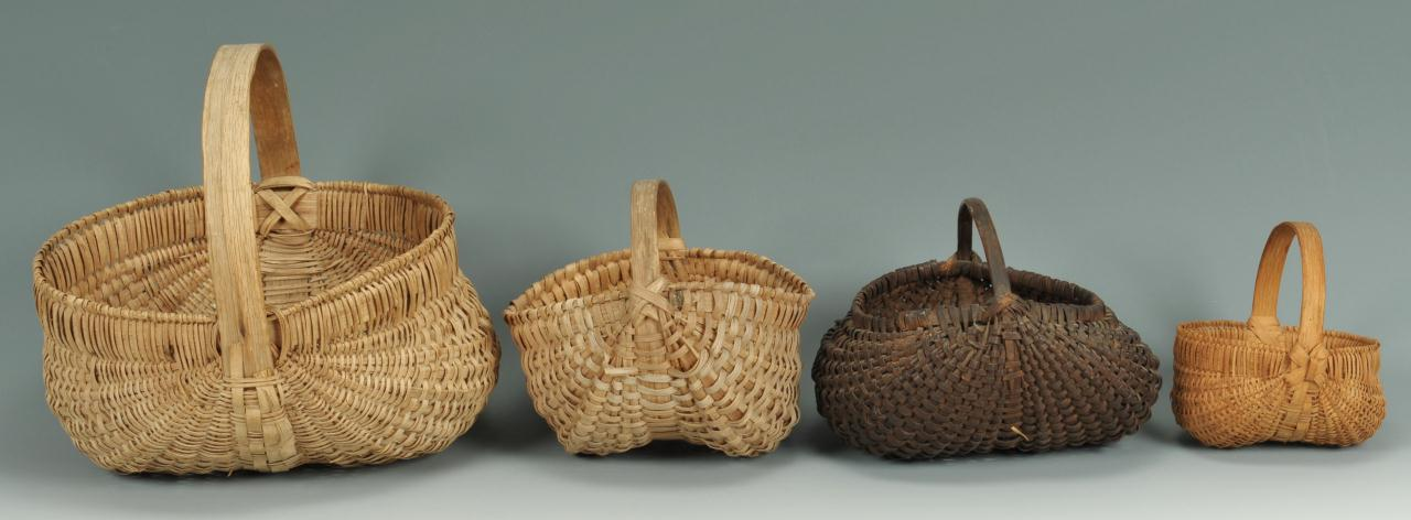 Lot 431: Four Tennessee buttocks baskets