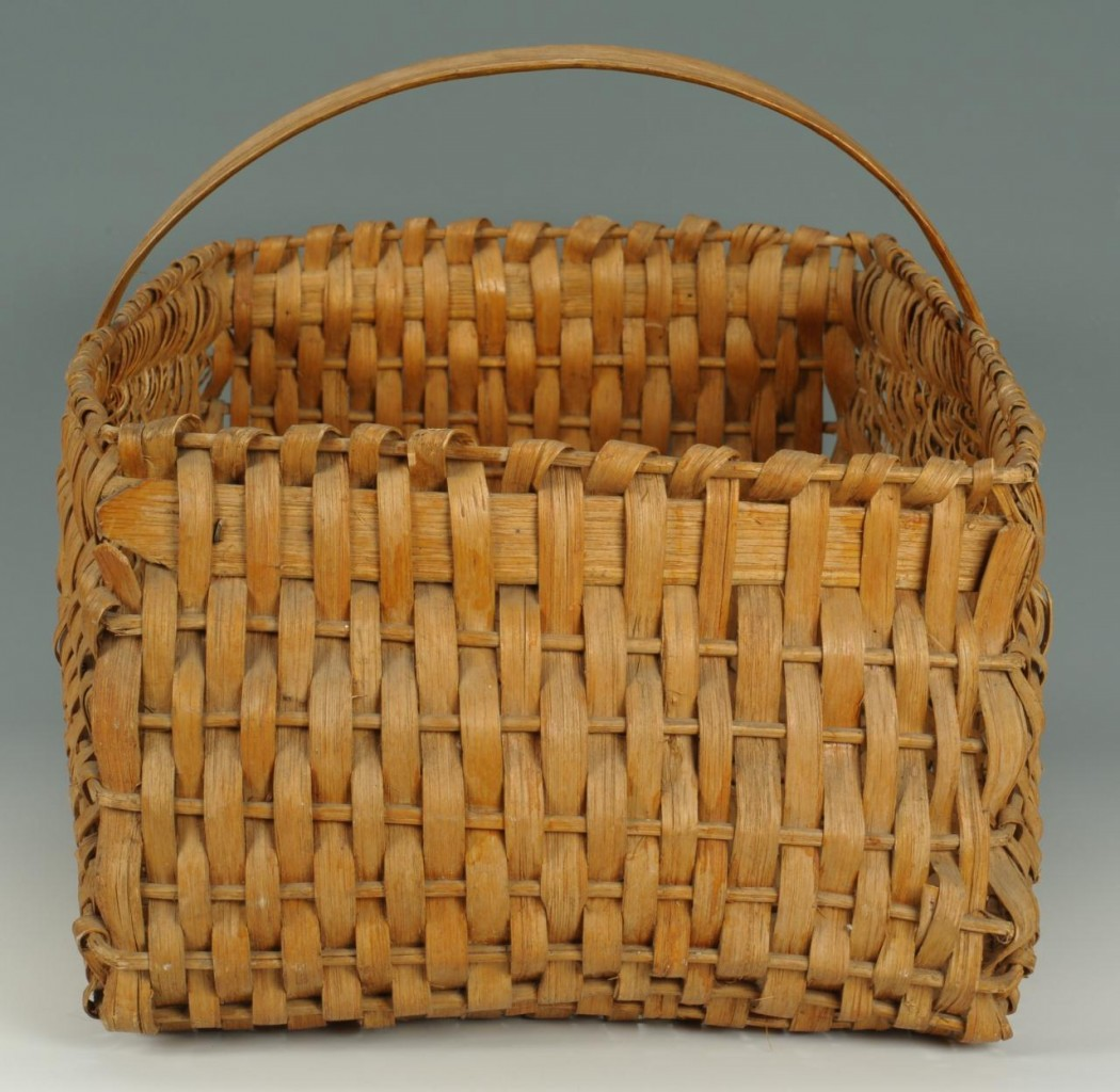 Lot 432: Five 19th TN Split Oak Baskets
