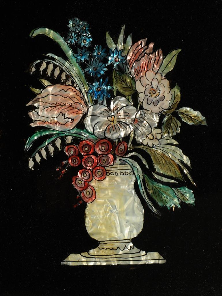 Lot 442: Pr. Victorian Foil Eglomise Pictures
