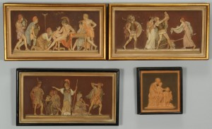 Lot 443: 4 Ipsen Classical Terra Cotta Plaques