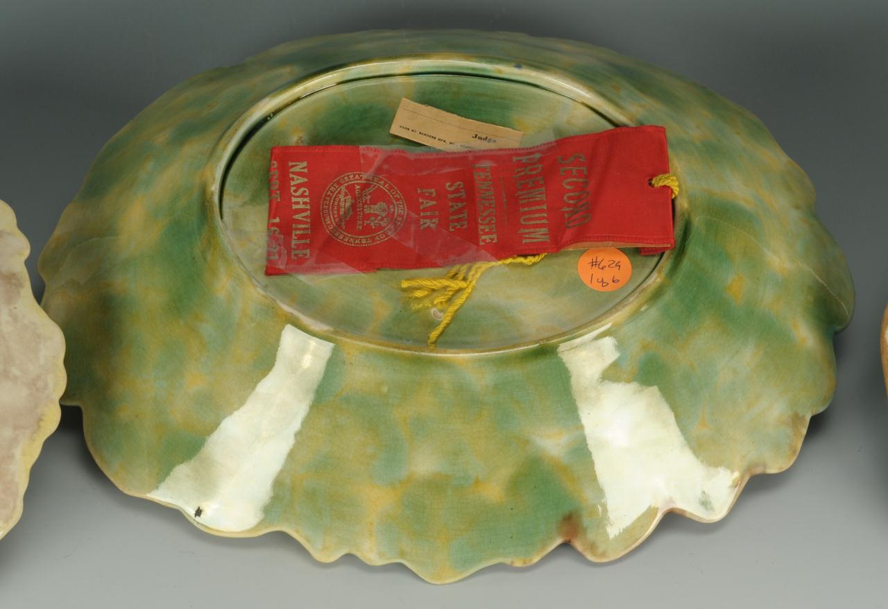 Lot 446: 8 Majolica dishes inc. Wedgwood and Estruscan