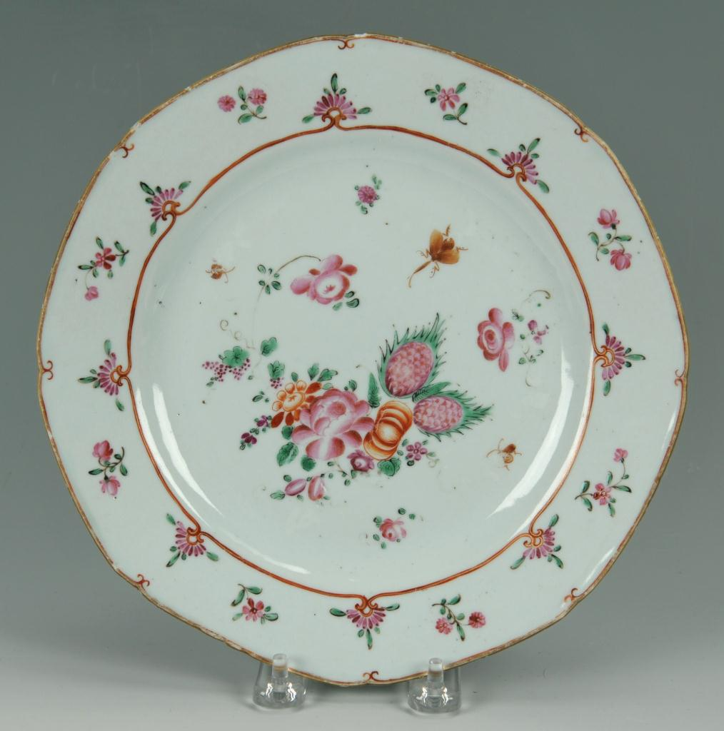 Lot 447: 18th C. Chinese Export Famille Rose Porcelain, 11