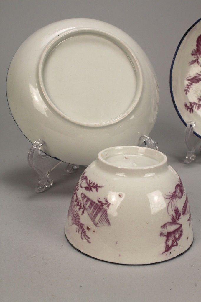 Lot 448: Early cups and saucers incl Worcester, Meissen