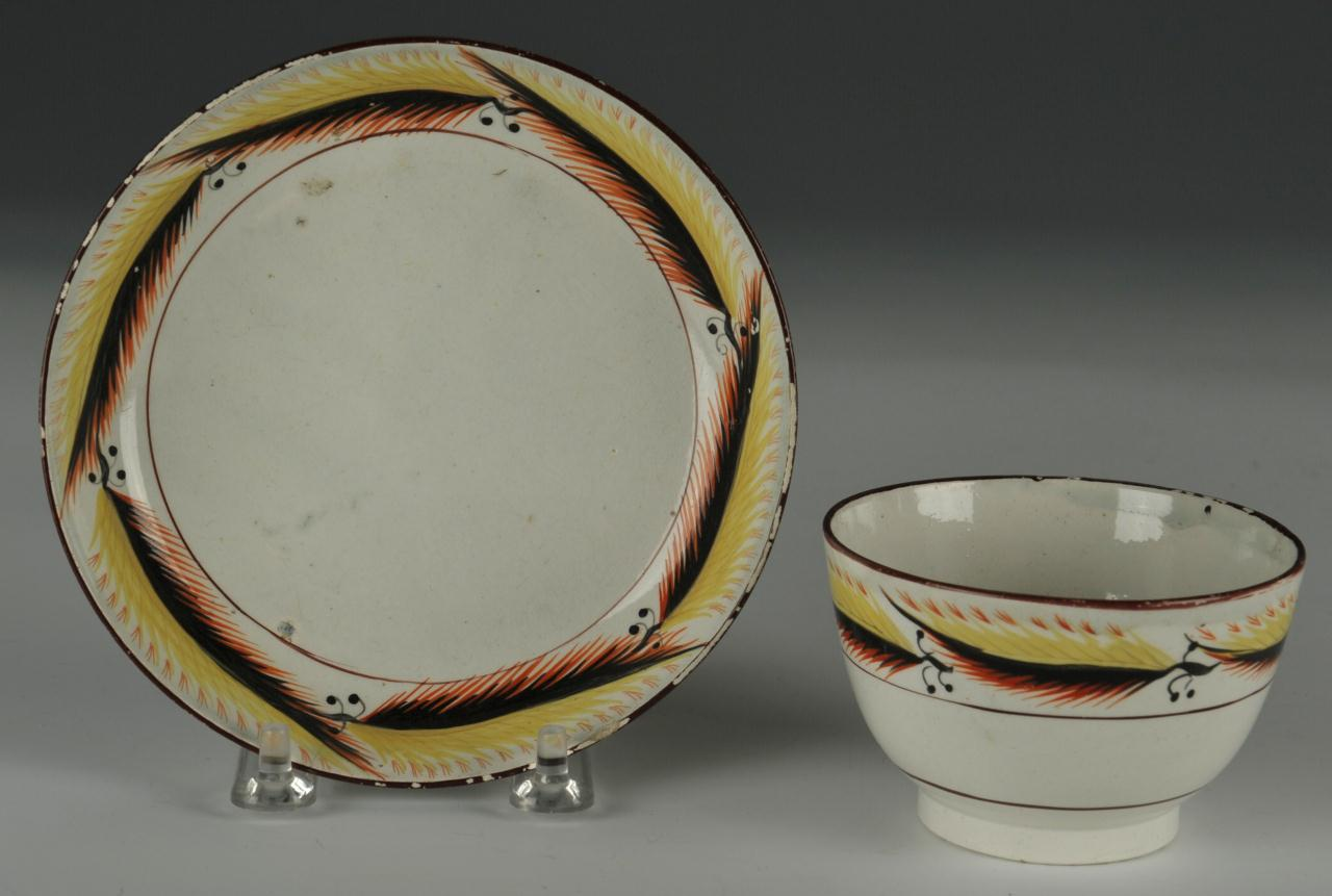 Lot 452: Grouping of 19th C English Ceramics Wedgwood Ridge