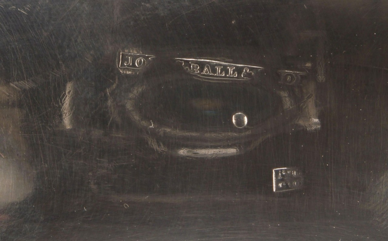 Lot 457: Coin silver sauce boat and creamer
