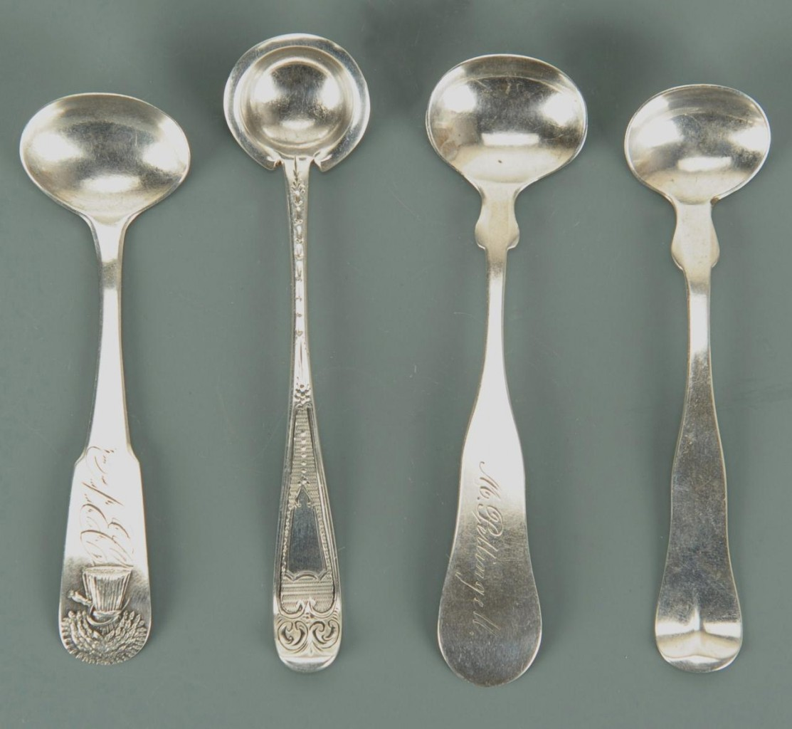 Lot 459: Grouping of Coin Silver Spoons