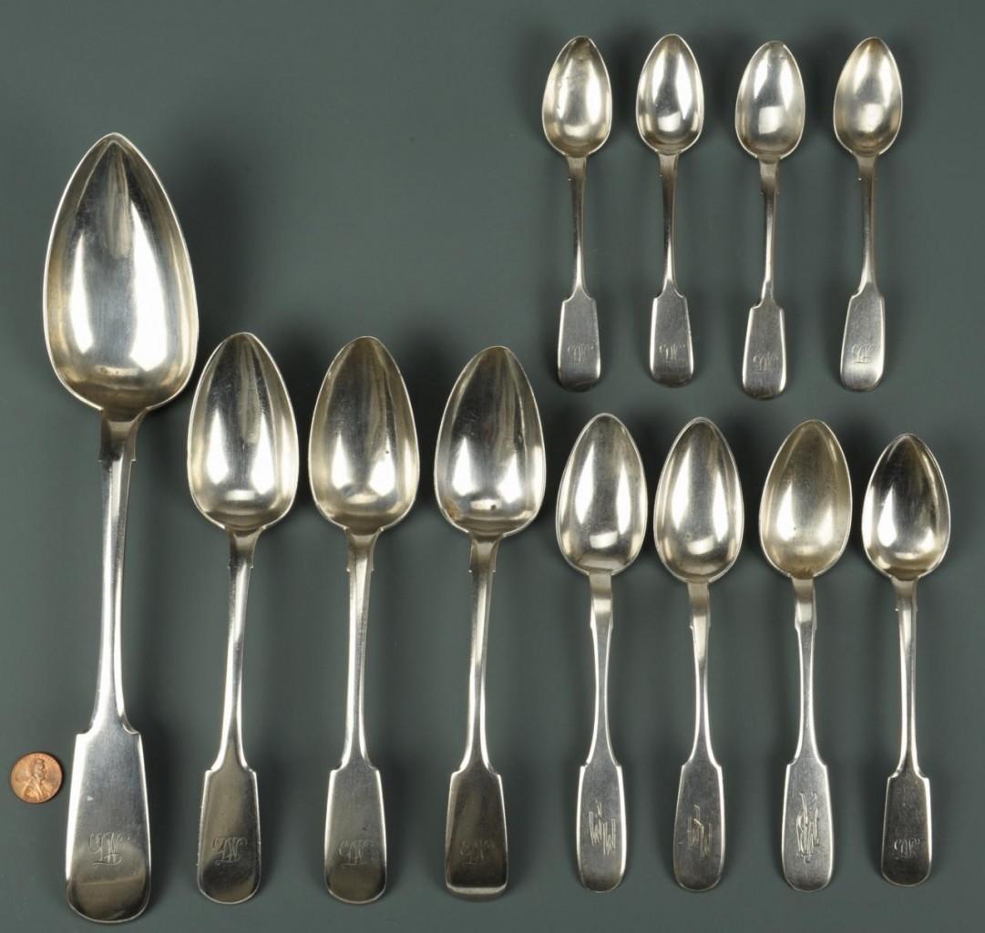 Lot 464: Assorted European Silver, incl. Russian, 12 pcs.