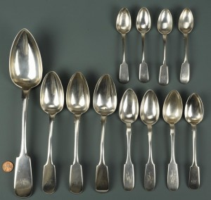 Lot 464: Assorted European Silver, incl. Russian, 12 pcs.
